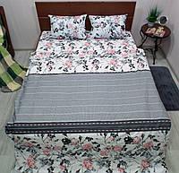 Комплект постільної білизни бязь Голд Троянди, фото 1