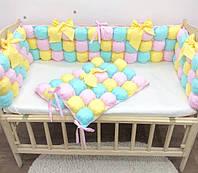 Бортики-бомбон в детскую кроватку, защитные бортики