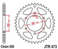 Звезда задняя JT Sprockets JTR473.37 (Geon CR6)
