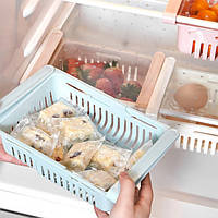 Полка складная Kitchen Органайзер в холодильник Stretchable Hanging Storage Rack Белая