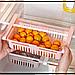 Полка складная Kitchen Органайзер в холодильник Stretchable Hanging Storage Rack Белая, фото 4