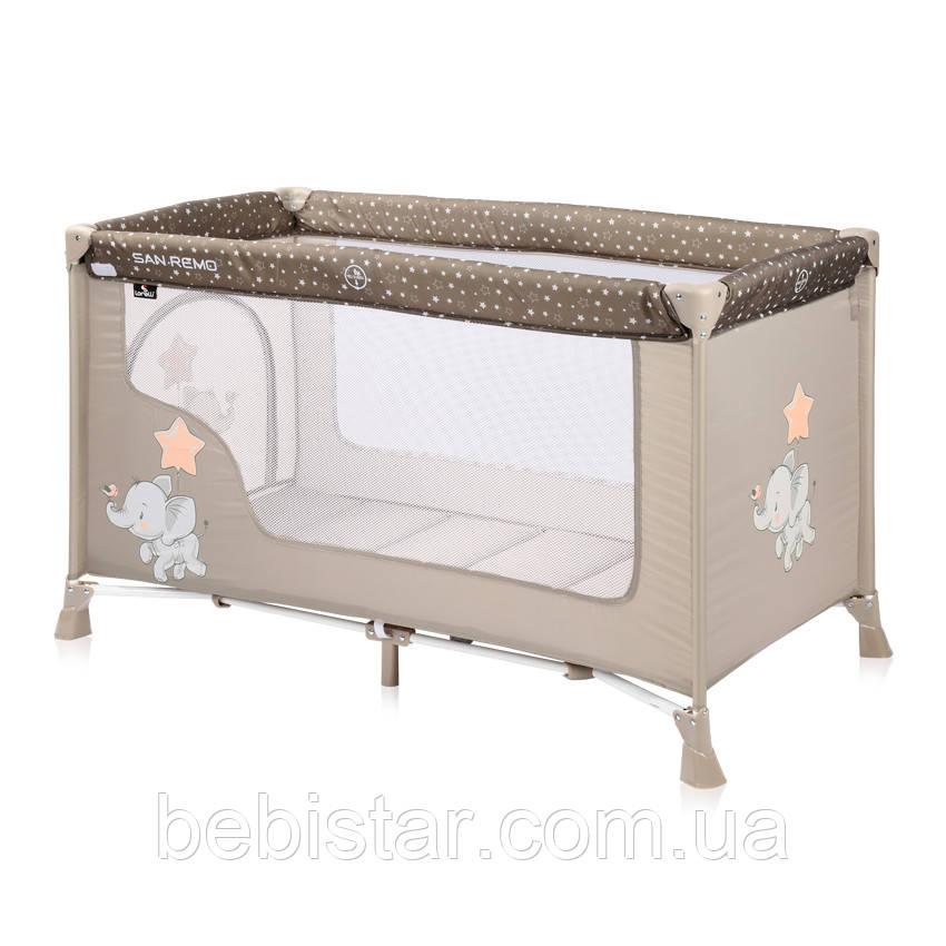 Манеж бежевый Lorelli SR1 Layer для детей с рождения до 3-х лет