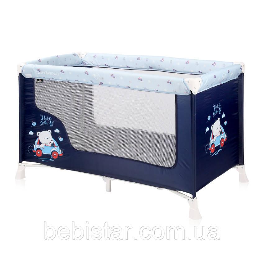 Манеж Lorelli SR1 Layer для детей с рождения до 3-х лет Синий