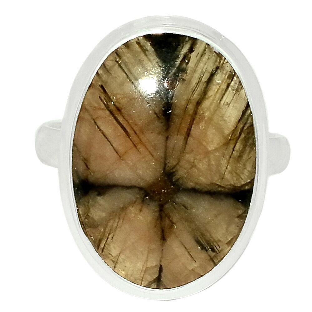 Серебряное кольцо с Хиастолитом (Андалузит), 2539КЦХ
