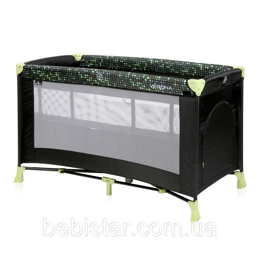 Детский манеж кровать-манеж Lorelli Verona 2 Layer два уровня пеленатор сумка для переноски Черный