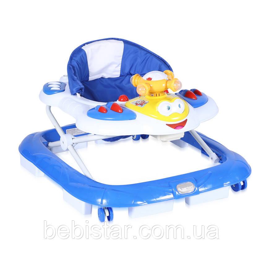 Ходунки синие Lorelli Helecopter для детей старше 6 месяцев