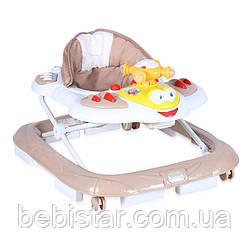 Ходунки бежевые Lorelli Helecopter для детей старше 6 месяцев