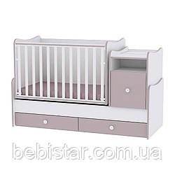 Детская кровать-трансформер подростковая кровать кофе с молоком 6в1 с рождения до 14лет Trend White Cappuccino