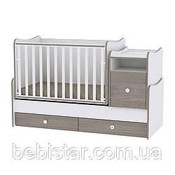 Детская кровать-трансформер подростковая кровать белый с кофейным 6в1 с рождения до 14лет TrendWhite Coffee