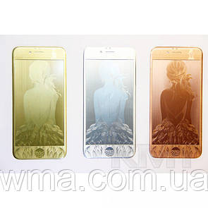 Защитное Стекло с рисунком Girl — iPhone 5S — Silver