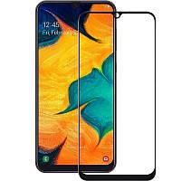 Закаленное защитное 5D стекло ПОЛНАЯ ПРОКЛЕЙКА (на весь экран) для Samsung Galaxy A21s (выбор цвета)