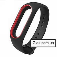 Ремінець для фітнес-браслета Xiaomi Mi Band 5 Black & Red