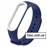 Ремінець для фітнес-браслета Xiaomi Mi Band 5 Blue & White