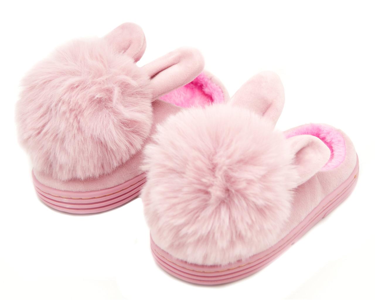 Тапочки Для девочек Розовый Размер: 25-26; 27-28; 29-30; 33-34; 35-36