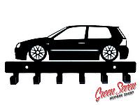 Вішалка в Прихожу для Ключів та Одягу Vw Golf MK4 Подарунок Любителю Вінтажних Авто Оригінальний Презент
