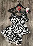 Модный велюровый комплект халат+пижама., фото 2