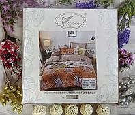 Евро комплект постельного белья сатин комбинированное Турция Koloco, фото 1