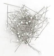 Кравецькі шпильки зі скляною головкою GALANT 0.4х35 мм (10 гр)