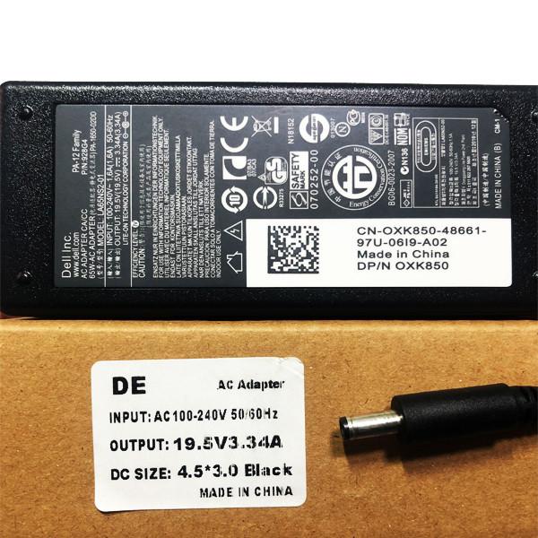 Блок живлення для ноутбука DELL HA65NS5-00 LA65NS2-01 19,5 V 3.34 A 4,5*3,0 мм 65 Вт