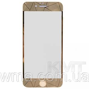 Защитное Стекло 2 in 1 Diamond — iPhone 6S — Gold