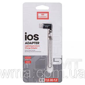 Переходник (Адаптер) Переходник Earldom ET-OT08 — Lightning To Micro Adapter Black
