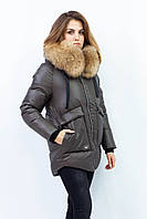 Женская зимняя куртка Olanmear. Цвет хаки