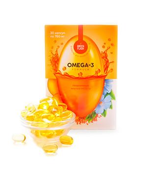 Витаминный Комплекс полиненасыщенных жирных кислот Омега-3 из морской рыбы северных широт и льняного масла