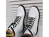 Ботинки на массивной тракторной подошве демисезон белые 36, 37, 38, 39 р. (2347), фото 3