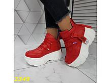 Кроссовки деми на высокой платформе красные 37, 40 р. (2349)
