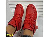 Кроссовки деми на высокой платформе красные 36, 37, 38, 41 (2349), фото 4