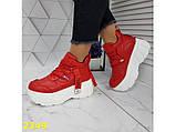 Кроссовки деми на высокой платформе красные 36, 37, 38, 41 (2349), фото 6