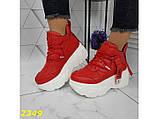Кроссовки деми на высокой платформе красные 36, 37, 38, 41 (2349), фото 8