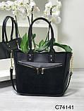 Женская сумка С74141 черная, фото 2