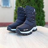 Жіночі зимові чоботи чорні з білим, фото 2