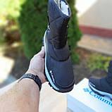 Жіночі зимові чоботи чорні з білим, фото 3