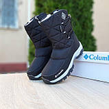 Жіночі зимові чоботи чорні з білим, фото 5