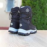 Жіночі зимові чоботи чорні з білим, фото 10