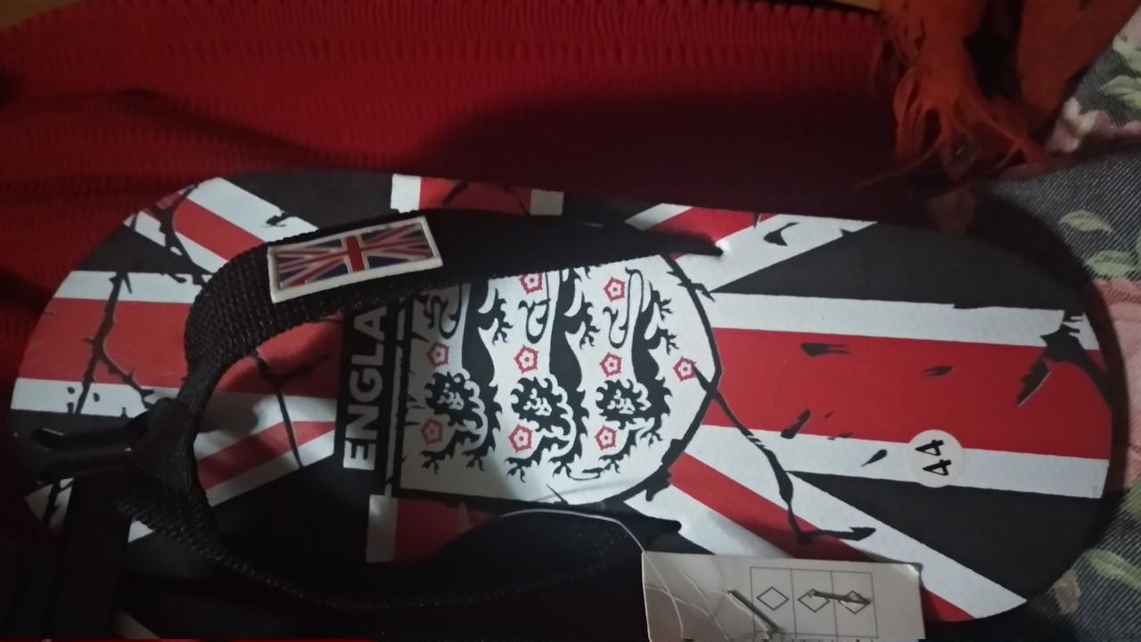 Шльопанці сланці в'єтнамки чоловічі британський прапор 41 р