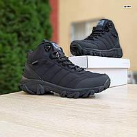 Мужские зимние кроссовки в стиле Merrell Vibram черные, фото 1