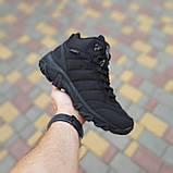 Чоловічі зимові кросівки Vibram чорні, фото 2
