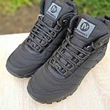 Чоловічі зимові кросівки Vibram чорні, фото 3