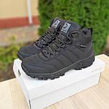 Чоловічі зимові кросівки Vibram чорні, фото 4