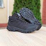 Чоловічі зимові кросівки Vibram чорні, фото 5