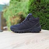 Чоловічі зимові кросівки Vibram чорні, фото 9