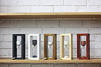 Часы песочные на 10 мин тип 4 исп. 27 200*50*90 мм основание орех песок белый (300649)