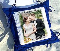 Подарок на годовщину свадьбы, подушка с фото, габардин