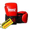 Боксерские перчатки кожаные для тренировок и спаррингов на липучке PowerPlay Красный (PP_3015) 10 унций