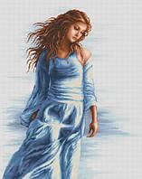 Набор для вышивки крестом Luca-S BМ3006 Девушка в голубом
