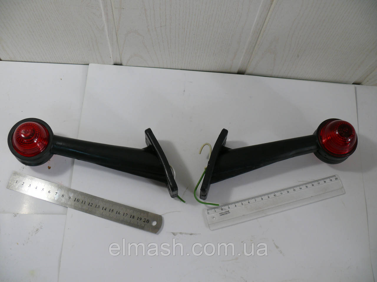 Фонарь габарита грузового прицепа правый лампа, LED (рожок прямой, длинный) (пр-во Турция)