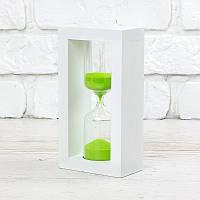 Часы песочные на 10 мин тип 4 исп. 27 200*50*90 мм основание белое песок салатовый (300589)